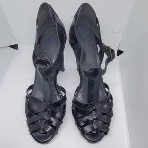 Stuart Weitzman black sandals heel 8.5